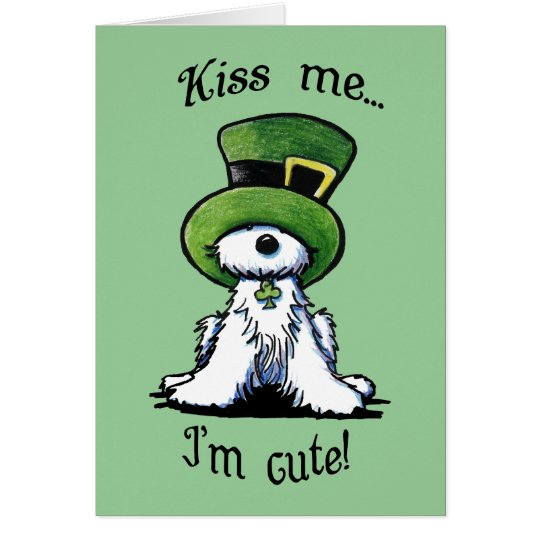 Westie Terrier Dog KISS ME Card