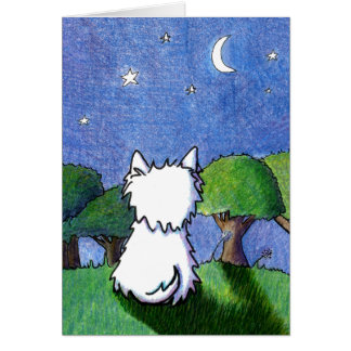 Westie Terrier Pet Loss Sympathy Stationery Note Card