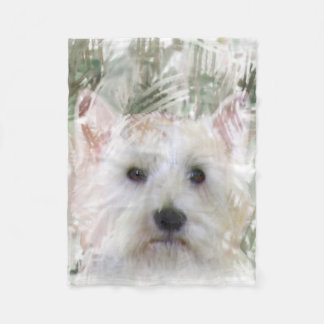 WESTIE THROW FLEECE BLANKET