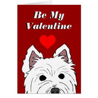 Westie Valentine Card
