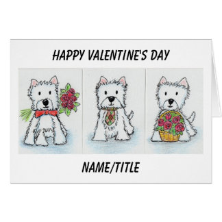 Westie Valentine's Day Card wife girlfriend