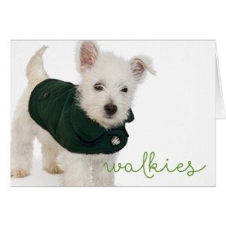 Westie Walkies Blank Note Card