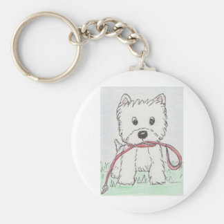 WESTIE WALKIES KEY RING
