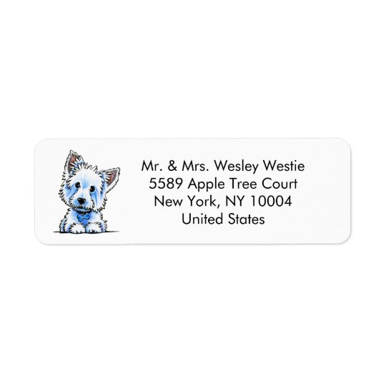 Westie Wesley Custom Return Address Label
