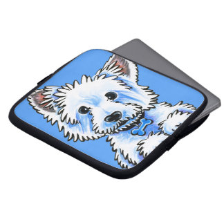 Westie Wesley Laptop Sleeves