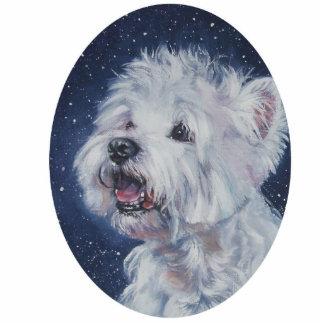 westie west highland terrier christmas ornament photo cutout