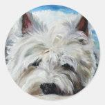 Westie West Highland Terrier Dog Beach Bum Sticker