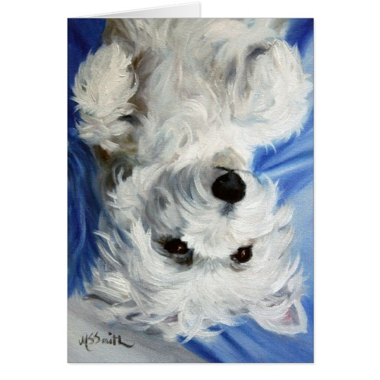 Westie West Highland Terrier Dog Card