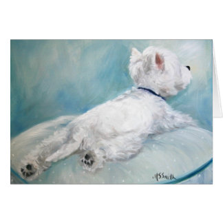 Westie West Highland Terrier Dog Comfort Zone Card