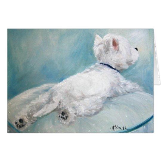 Westie West Highland Terrier Dog Comfort Zone Card