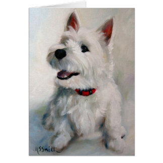 Westie West Highland Terrier Dog Smiley Face Card