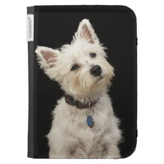 Westie (West Highland terrier) with collar Kindle Cases