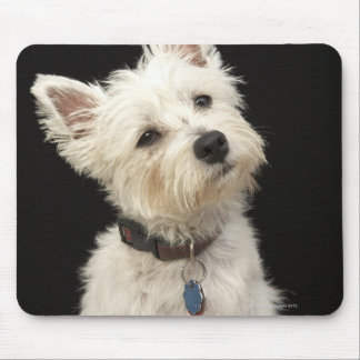 Westie (West Highland terrier) with collar Mouse Mat