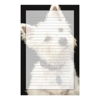 Westie (West Highland terrier) with collar Stationery