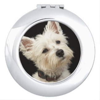 Westie (West Highland terrier) with collar Vanity Mirror
