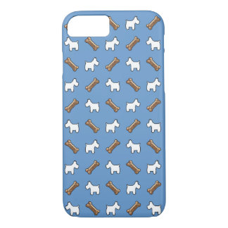 Westie Westies and dog biscuits iPhone 7 Case