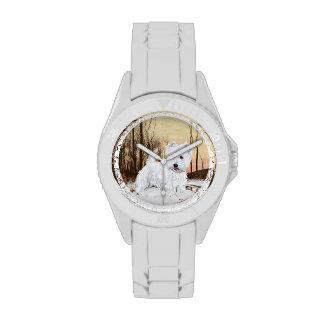 Westie Winter Wrist Watch