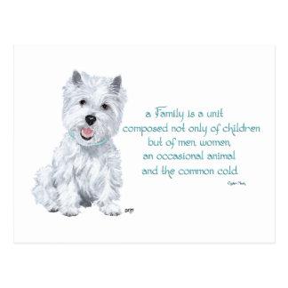 Westie Wisdom - Family Dynamics Postcards