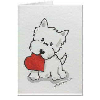 Westie With Heart Card