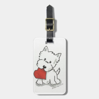 Westie With Heart Luggage Tag