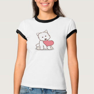 Westie with Heart Shape T-Shirt