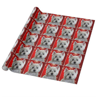 WESTIE WITH SNOWFLAKES WRAPPING PAPER