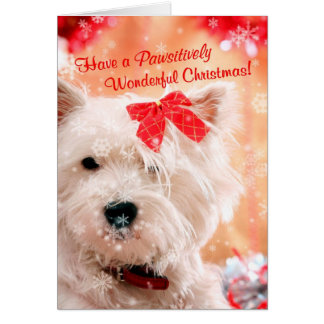 Westie Wonderful Christmas Wishes 3 - Customize It Card