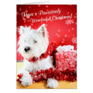 Westie Wonderful Christmas Wishes Customize It #2 Card