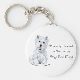 Westie Words of Wisdom Basic Round Button Key Ring