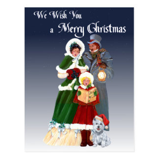 Westies and Family Christmas Carols Post Cards