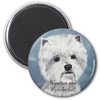 Westies are Wonderful! - Customized 6 Cm Round Magnet