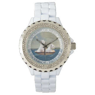 Westies At Sea Wristwatches