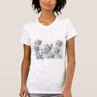 Westies in Snow fun T-shirt for theWestie Lover !