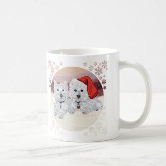 Westies in Wintertime Coffee Mug