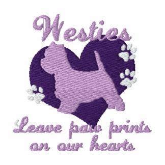 Westies Leave Paw Prints Purple Hoodie