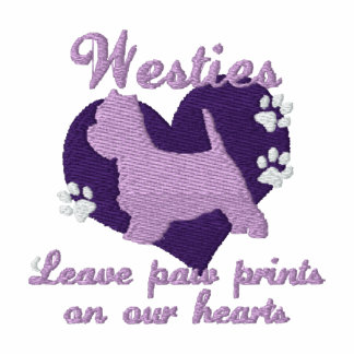 Westies Leave Paw Prints Purple Hoody