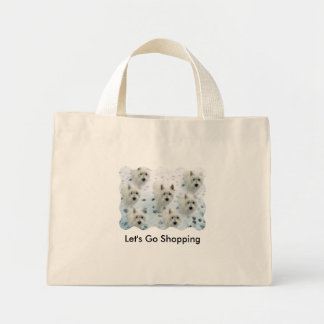 "Westies ""Let's Go Shopping"" fun Bag"