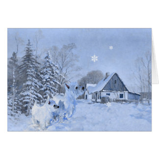Westies Love the Wintertime Card