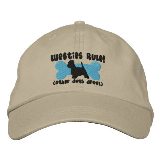 Westies Rule Embroidered Hat
