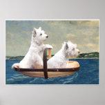Westies Set Sail Poster