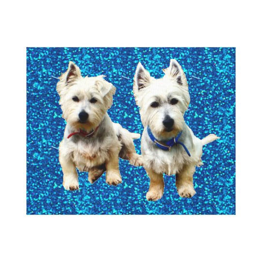 Westies Wall Canvas.. Canvas Print