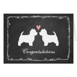 Westies Wedding Congratulations Greeting Cards