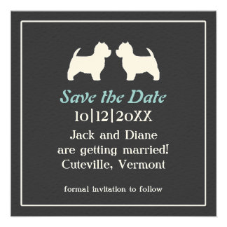 Westies Wedding Save the Date Invitation