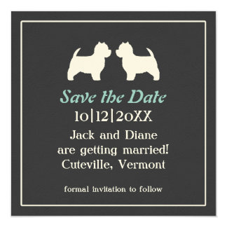 Westies Wedding Save the Date Invitation