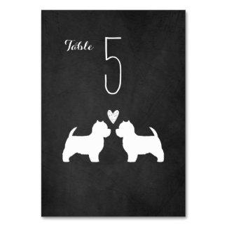 Westies Wedding Table Card