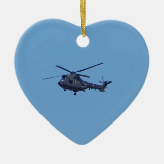 Westland Puma Military Helicopter Christmas Ornament