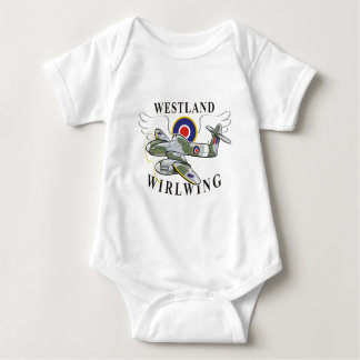 westland wirlwing baby bodysuit