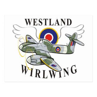 westland wirlwing postcard