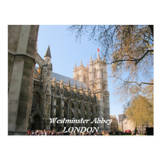 Westminister Abbey London UK postcard