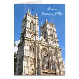 Westminster Abbey in London, UK Card